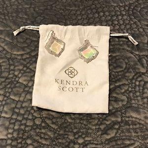 Kendra Scott Kirsten Earrings clear Iridescent